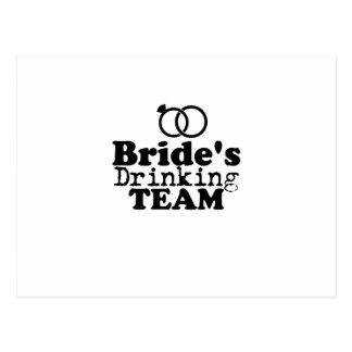 Bride's Drinking Team  Groom Fuuny Party Postcard