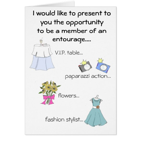 brides entourage card