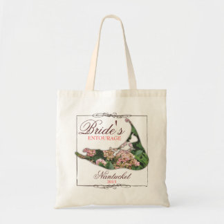 Bride's Entourage Floral Nantucket Wedding Tote Bag