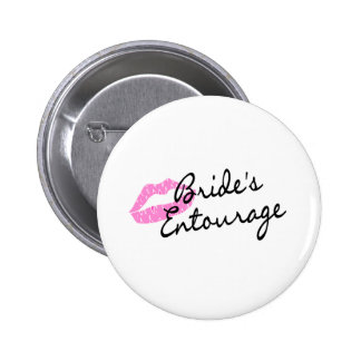 Brides Entourage Lips 2 Inch Round Button