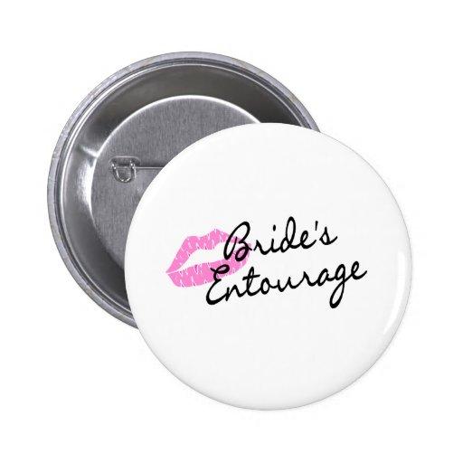 Brides Entourage Lips Pinback Buttons