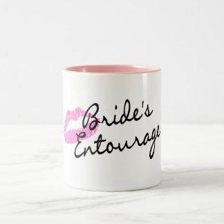 Brides Entourage Lips Two-Tone Coffee Mug