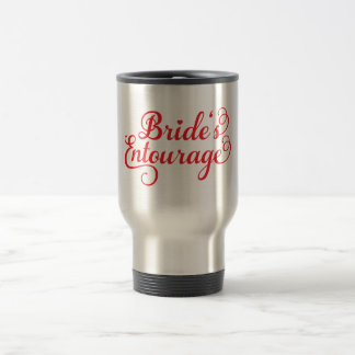 Brides Entourage, red text design for t-shirt Coffee Mug
