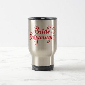 Brides Entourage, red text design for t-shirt Stainless Steel Travel Mug