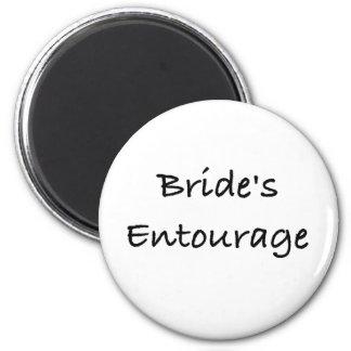 bride's entourage wedding day gear 2 inch round magnet