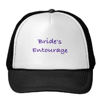 bride's entourage wedding day gear mesh hat