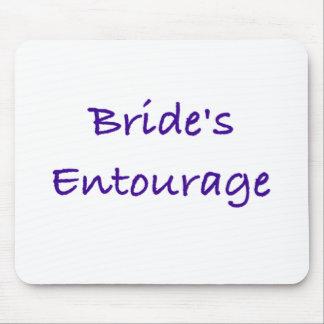 bride's entourage wedding day gear mouse pad