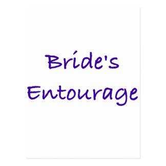 bride's entourage wedding day gear postcard
