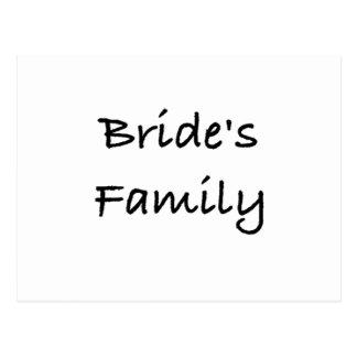 bride's family wedding gear postcard