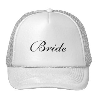 Bride's Formal Black and White Cap Trucker Hat