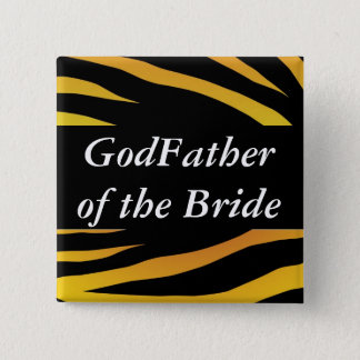 Brides GodFather 2 Inch Square Button