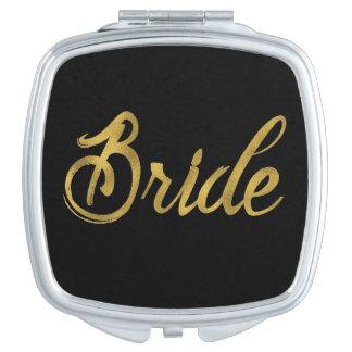 Brides Gold Faux Paint Makeup Mirrors