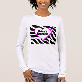 Brides Grandma (Heart Zebra Print) Long Sleeve T-Shirt