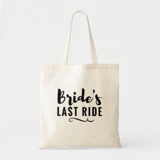 Bride's Last Ride Bachelorette Party Tote Wedding