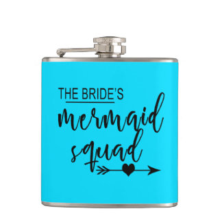 Bride's Mermaid Squad Wedding Flask
