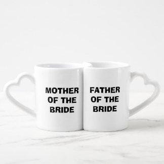 Bride's Mother/Father Nesting Mug Set Couples Mug