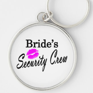 Brides Security Crew Silver-Colored Round Keychain