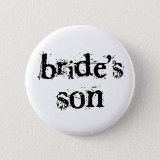 Bride's Son Black Text 2 Inch Round Button