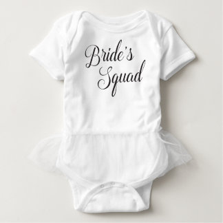 Bride's Squad Baby Tee Shirt