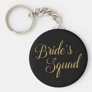 Bride's Squad Bridesmaid Gift Basic Round Button Keychain