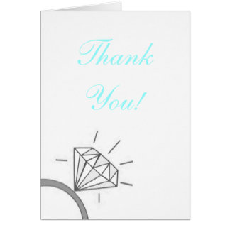 Bride's Thank You- Blue Note Card