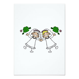 """Brides Tossing Bouquests 5"""" X 7"""" Invitation Card"""