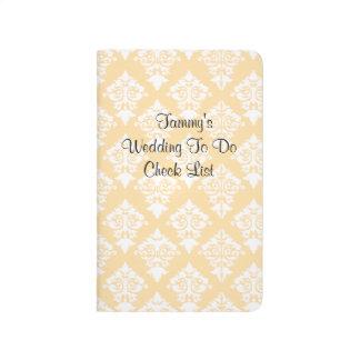 Bride's Wedding Check List Pocket Journal