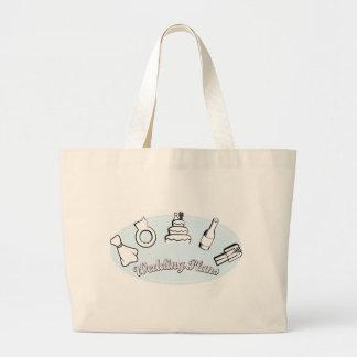 Bride's Wedding Plans Tote Bag Handbag