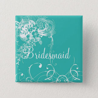 Bridesmaid 2 Inch Square Button