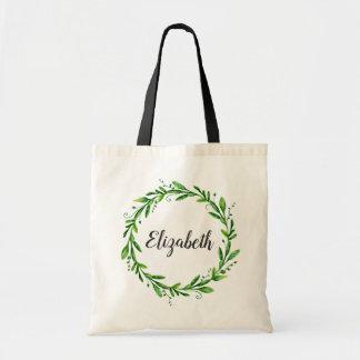 Bridesmaid bag. Summer wedding. Botanical wreath Tote Bag