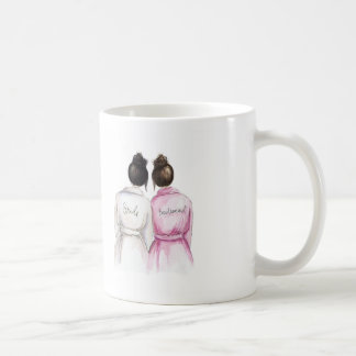Bridesmaid? Black Bun Bride Dk Br Maid Classic White Coffee Mug
