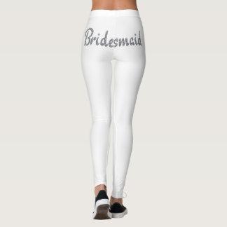 Bridesmaid bling design leggings