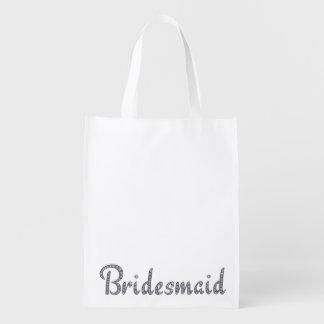 Bridesmaid bling reusable bag
