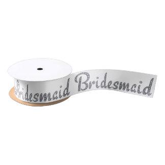 Bridesmaid bling ribbon satin ribbon
