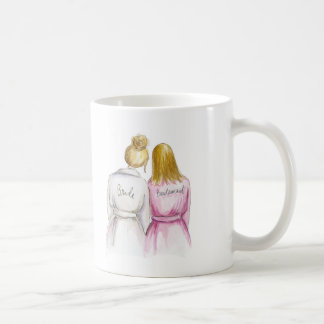 Bridesmaid? Blonde Bun Bride Dark Bl Straight Maid Coffee Mug