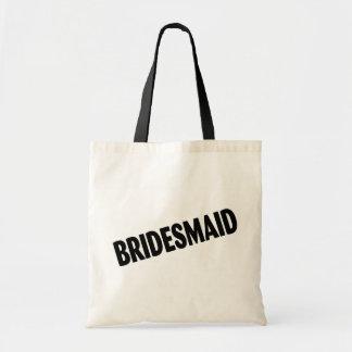 Bridesmaid Bold Black Tote Bags