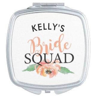 Bridesmaid Bridal Shower Mirror Bride Squad Gifts Compact Mirrors