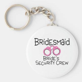 Bridesmaid Brides Security Crew Keychain