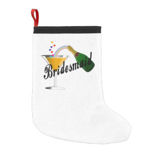 Bridesmaid Champagne Toast Small Christmas Stocking
