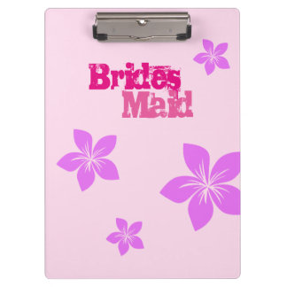 Bridesmaid Clipboards