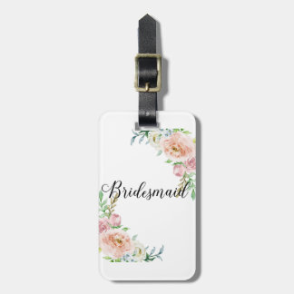 Bridesmaid Country Roses Luggage Tag