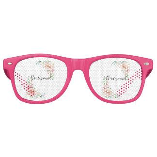Bridesmaid Country Roses Retro Sunglasses