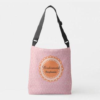 Bridesmaid Crossbody Bag Peach Pattern