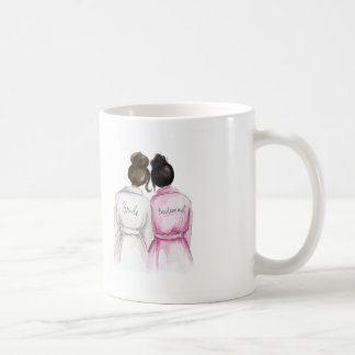 Bridesmaid? Dk Br Bun Bride Black Bun Maid Basic White Mug