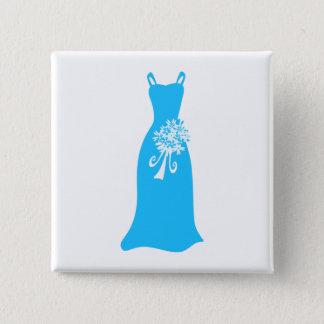 Bridesmaid Dress 2 Inch Square Button