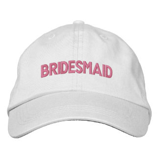 Bridesmaid Embroidered Hat