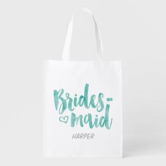 Bridesmaid Fabric Gift Bag Market Tote