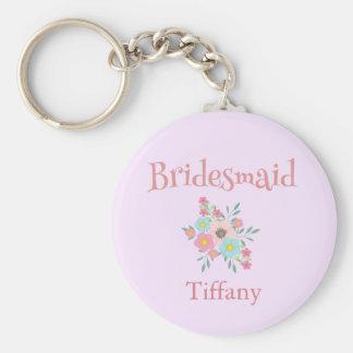Bridesmaid Floral keepsake Keychain