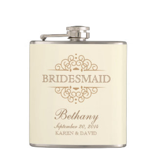 Bridesmaid Gift Vintage Wedding Party Flask