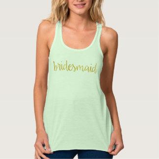 Bridesmaid Gold Shirt